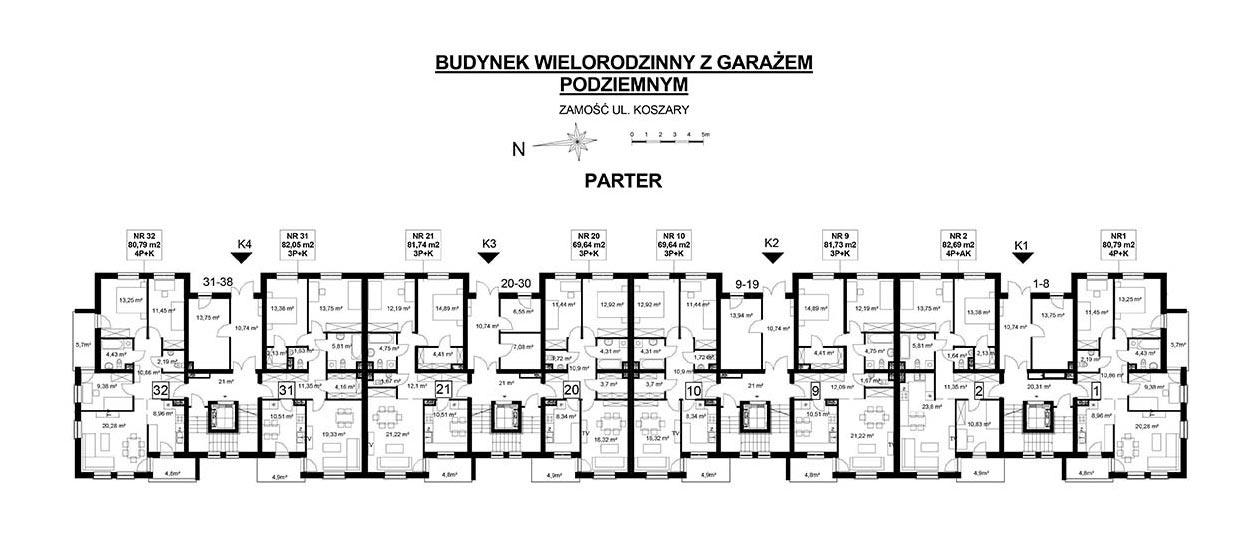 Koszary'64/20 - mieszkanie 3-pokojowe Zamość - Rozmus Nieruchomości - biuro nieruchomości Zamość