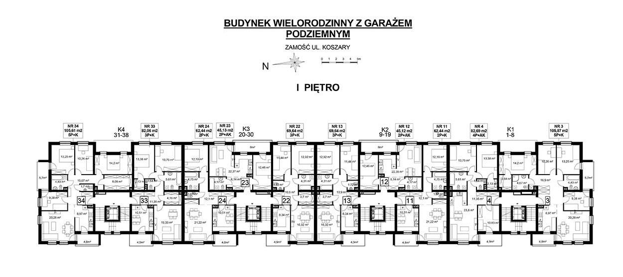 Koszary'65/34 - mieszkanie 5-pokojowe Zamość - Rozmus Nieruchomości - biuro nieruchomości Zamość