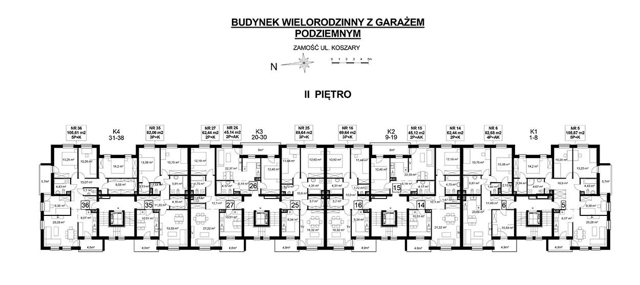 Koszary'64/36 - mieszkanie 5-pokojowe Zamość - Rozmus Nieruchomości - biuro nieruchomości Zamość