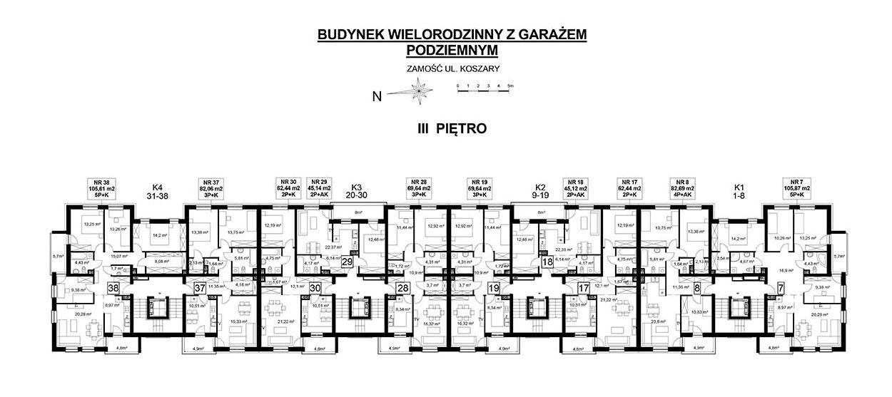 Koszary'64/38 - mieszkanie 5-pokojowe Zamość - Rozmus Nieruchomości - biuro nieruchomości Zamość